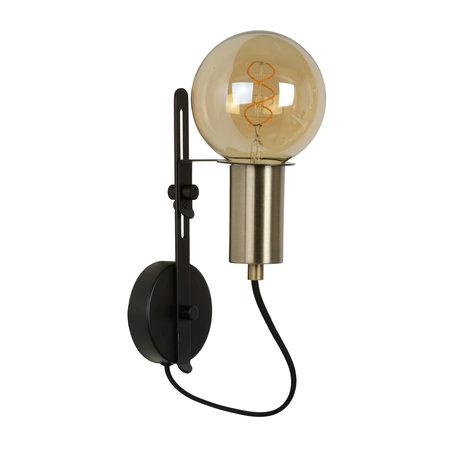Lucide MALCOLM - Wandlamp - E27 - Zwart - 45278/01/30