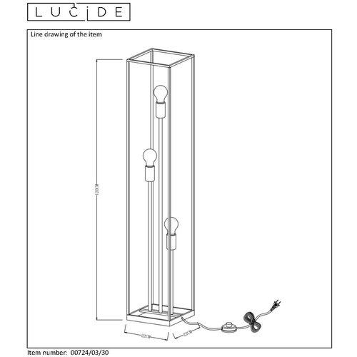 Lucide RUBEN - Floor lamp - E27 - Black - 00724/03/30