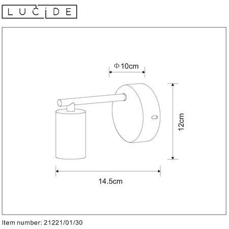 Lucide LEANNE - Applique - E27 - Noir - 21221/01/30