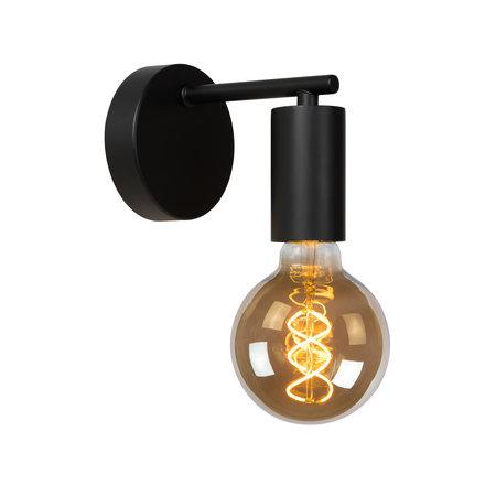 Lucide LEANNE - Wandlamp - E27 - Zwart - 21221/01/30