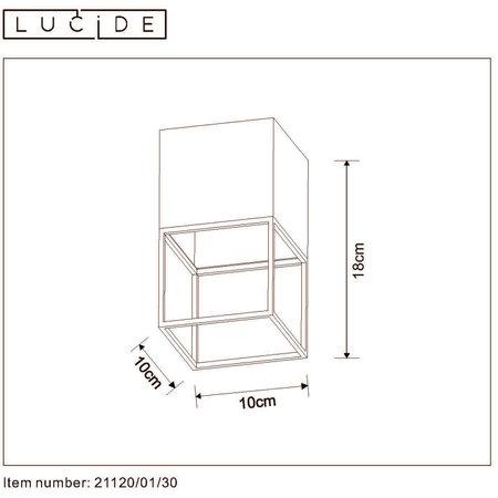 Lucide JRIXT - Plafonnier - E27 - Noir - 21120/01/30