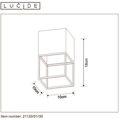 Lucide JRIXT - Plafonnière - E27 - Zwart - 21120/01/30