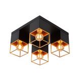 Lucide RIXT - Plafonnier - E27 - Noir - 21120/04/30