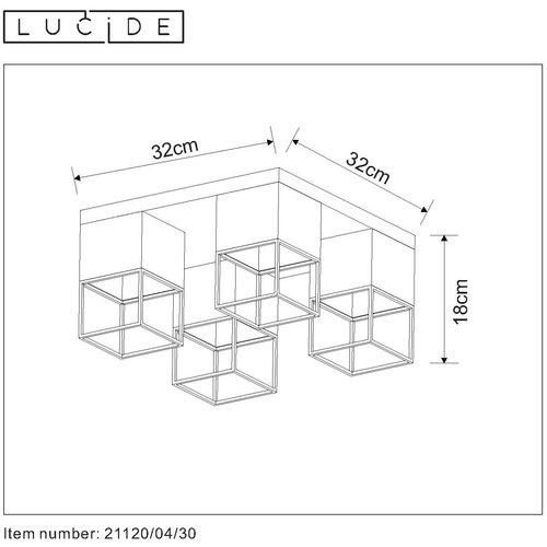 Lucide RIXT - Ceiling light - E27 - Black - 21120/04/30