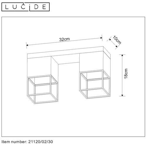 Lucide RIXT - Plafonnier - E27 - Noir - 21120/02/30