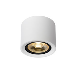 Lucide FEDLER - Ceiling spot - Ø 12 cm - LED Dim to warm - GU10 - 1x12W 3000K / 2200K - White