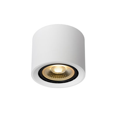 Lucide FEDLER - Spot de plafond - Ø 12 cm - LED faible en chaleur - GU10 - 1x12W 3000K / 2200K - Blanc