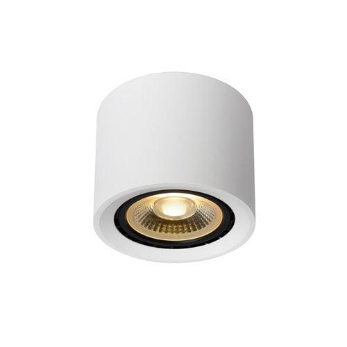 Lucide FEDLER - Plafondspot - Ø 12 cm - LED Dim to warm - GU10 - 1x12W 3000K/2200K - Wit
