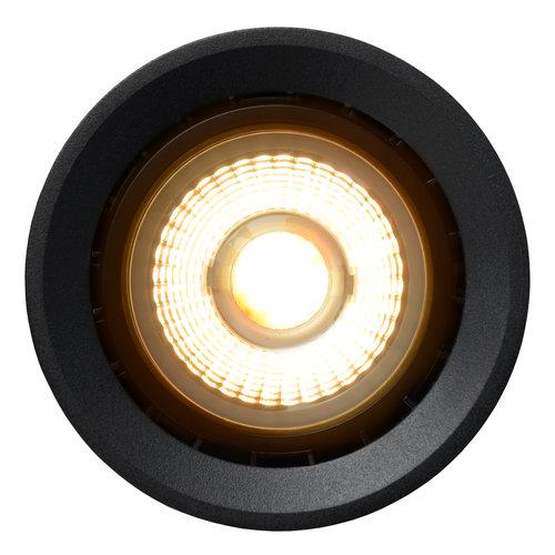 Lucide FEDLER - Spot de plafond - Ø 12 cm - LED faible en chaleur - GU10 - 1x12W 3000K / 2200K - Noir
