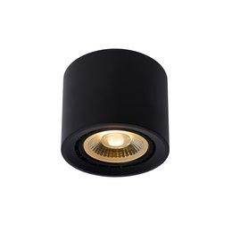 Lucide FEDLER - Plafondspot - Ø 12 cm - LED Dim to warm - GU10 - 1x12W 3000K/2200K - Zwart