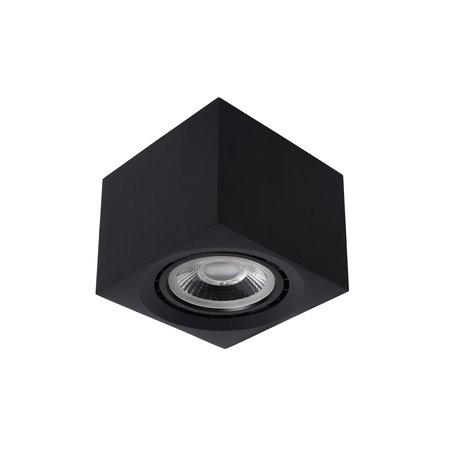 Lucide FEDLER - Ceiling spot - LED Dim to warm - GU10 - 1x12W 3000K / 2200K - Black - 09922/12/30