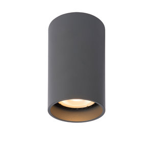 Lucide DELTO - Spot de plafond - Ø 5,5 cm - LED Dim à chauffer - GU10 - 1x5W 2200K / 3000K - Gris