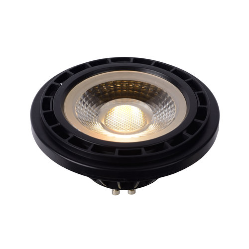 Lucide LED BULB - LED lamp - Ø 11 cm - LED Dim to warm - GU10 - 1x12W 3000K / 2200K - Black