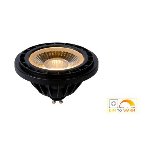 Lucide LED BULB - Led lamp - Ø 11 cm - LED Dim to warm - GU10 - 1x12W 3000K/2200K - Zwart