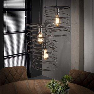 LioLights Vintage Hanglamp 3x curl getrapt