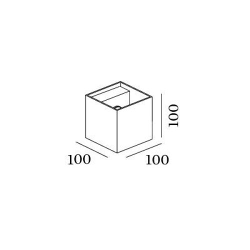 Wever & Ducré LED Wall light BOX 2.0 IP65 Outdoor