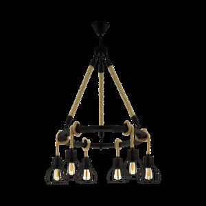 EGLO Vintage hanging lamp RAMPSIDE 43194