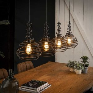 LioLights Vintage hanging lamp 3xØ30 twist adjustable rope - Copy - Copy