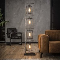 Floor lamp 4x cubic tower