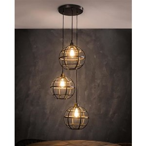 LioLights Hanging lamp 3xØ33 globe stepped