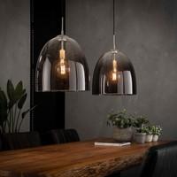 Hanglamp 2xØ40 shaded ovaal glas