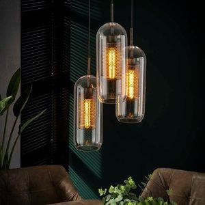 LioLights Hanglamp 3xØ15 getrapt cilinder glas