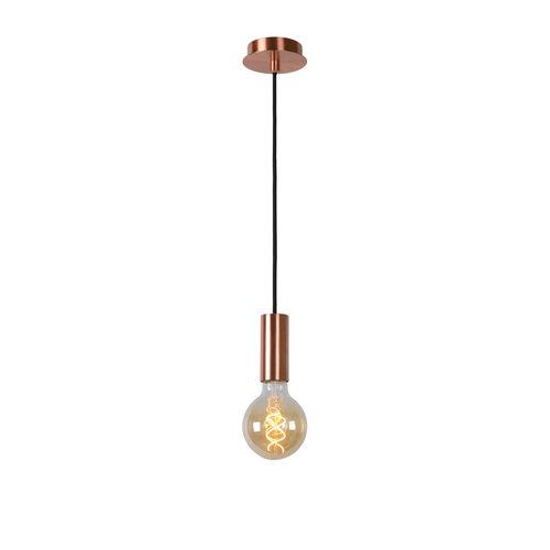 Lucide DROOPY - Hanglamp - Ø 9,5 cm - LED Dimb. - E27 - 1x5W 2200K - Koper