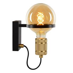 Lucide OTTELIEN - Wall lamp - Ø 17.7 cm - E27 - Black