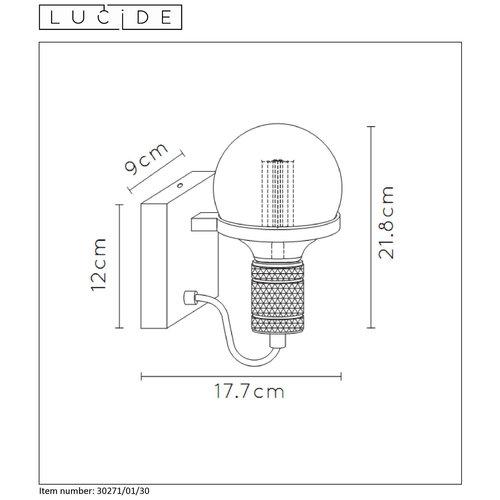 Lucide OTTELIEN - Applique - Ø 17,7 cm - E27 - Noir