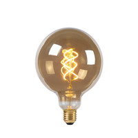 LED Bulb - Filament lamp - Ø 12.5 cm - LED Dimb. - E27 - 1x5W 2200K - Fumé