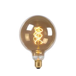 Lucide Ampoule LED - Lampe à filament - Ø 12,5 cm - LED Dimb. - E27 - 1x5W 2200K - Fumé