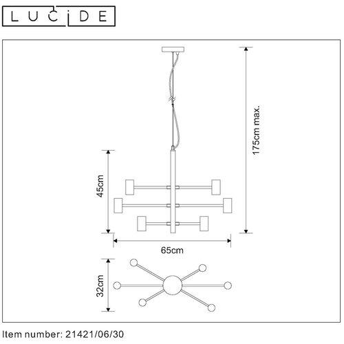 Lucide LEANNE - Suspension - E27 - Noir