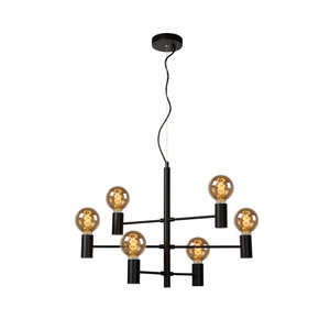 Lucide LEANNE - Hanging lamp - E27 - Black