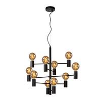 LEANNE - Hanglamp - Ø 65 cm - 10xE27 - Zwart - 21421/10/30