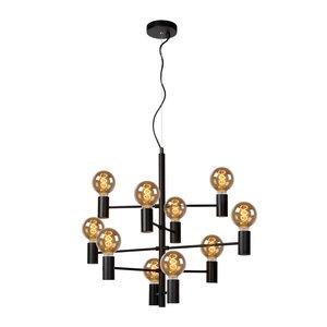 Lucide LEANNE - Hanging lamp - Ø 65 cm - E27 - Black