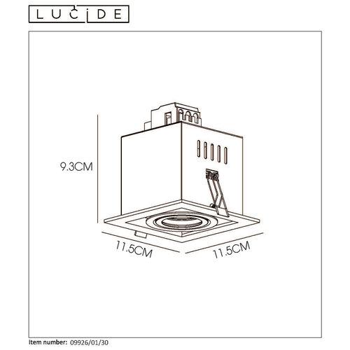 Lucide CHIMNEY - Inbouwspot - GU10 - Zwart