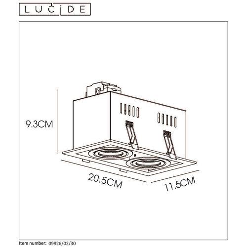 Lucide CHIMNEY - Inbouwspot - 2 x GU10 - Zwart