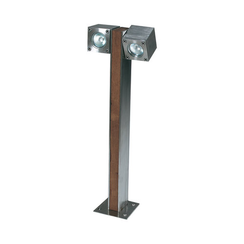 Royal Botania Q-bic 60 garden pole Teak / polished stainless steel