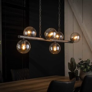 LioLights Hanglamp tower 6xØ15 glas