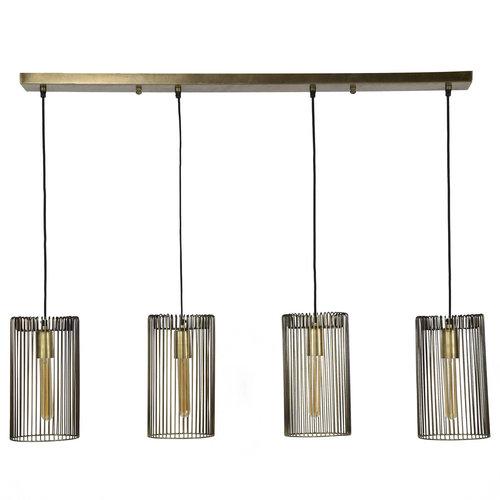LioLights Hanglamp 4xØ17 cilinder draad