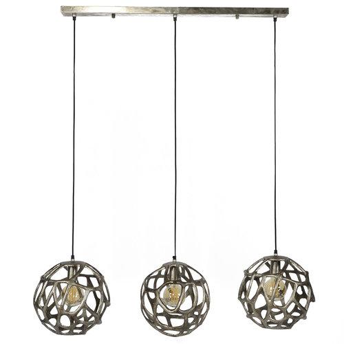 LioLights Suspension 3xØ29 ampoule en fonte d'aluminium sablée