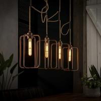 Hanging lamp 4x H31 cm twist sand-cast aluminum