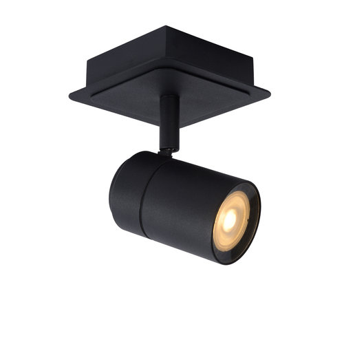 Lucide LENNERT - Wall spot Bathroom - LED Dimb. - GU10 - 1x5W 3000K - IP44 - Black