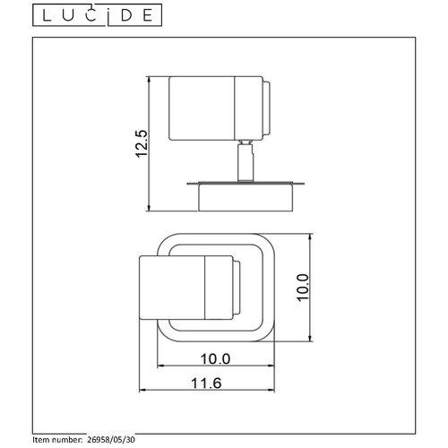 Lucide LENNERT - Wandspot Badkamer - LED Dimb. - GU10 - 1x5W 3000K - IP44 - Zwart
