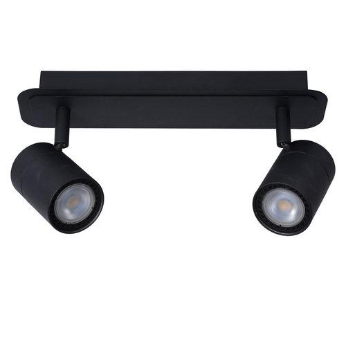 Lucide LENNERT - Spot de plafond Salle de bains - LED Dim. - GU10 - 2x5W 3000K - IP44 - Noir - 26958/10/30