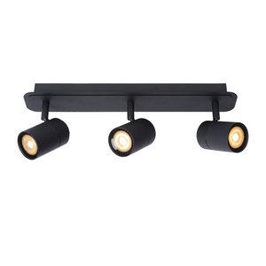 Lucide LENNERT - Plafondspot Badkamer - LED Dimb. - GU10 - 3x5W 3000K - IP44 - Zwart - 26958/15/30