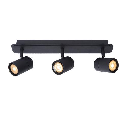Lucide LENNERT - Ceiling spotlight Bathroom - LED Dim. - GU10 - 3x5W 3000K - IP44 - Black - 26958/15/30
