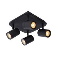 LENNERT - Wandspot Badkamer - LED Dimb. - GU10 - 4x5W 3000K - IP44 - Zwart