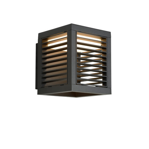 Lucide SLITS - Outdoor wall light - LED - 1x10W 2700K - IP54 - Anthracite