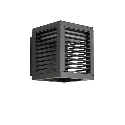 Lucide SLITS - Wandlamp Buiten - LED - 1x10W 2700K - IP54 - Antraciet